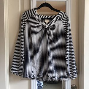 Chico's Striped Blouse